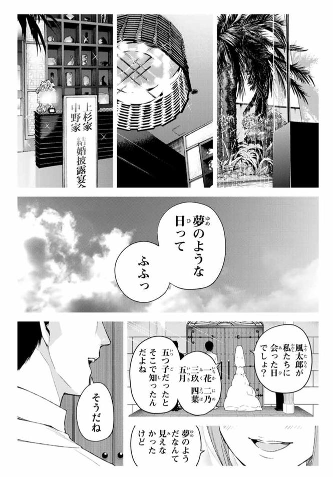 漫画『五等分の花嫁』のあらすじ