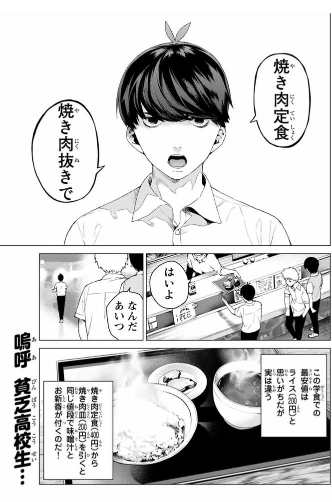 登場人物1:成績優秀のボッチ【上杉風太郎】