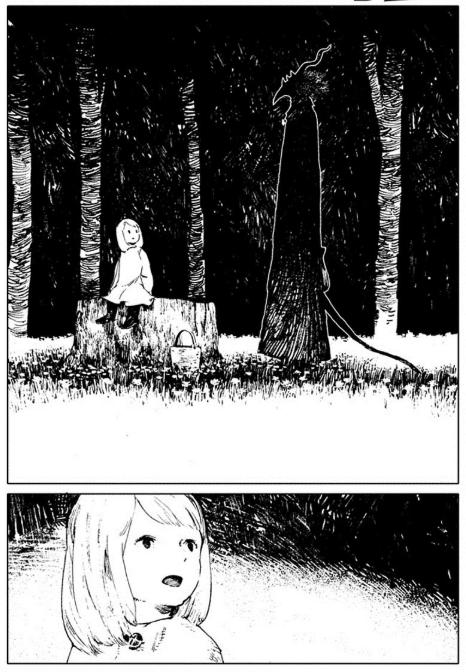 『とつくにの少女』の魅力3:白と黒のタッチで描かれる、お伽噺のような独特の世界